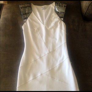 Bebe White Embellished Dress XS